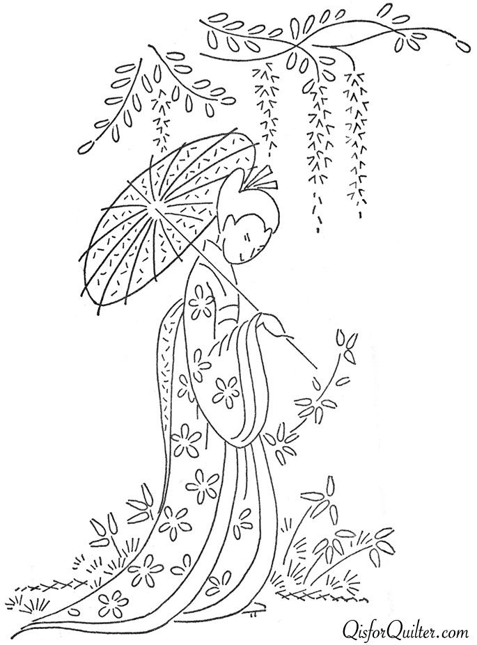 Vintage Embroidery Transfer Patterns | ... is for Quilter » Blog Archive » Vintage Japanese Embroidery Designs