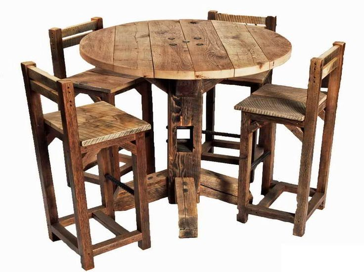 High Top Rustic Kitchen Table Sets