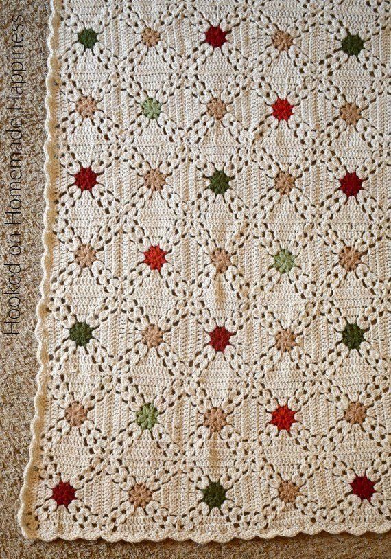 Crochet Blanket Pattern Granny Square Afghan Pattern Etsy