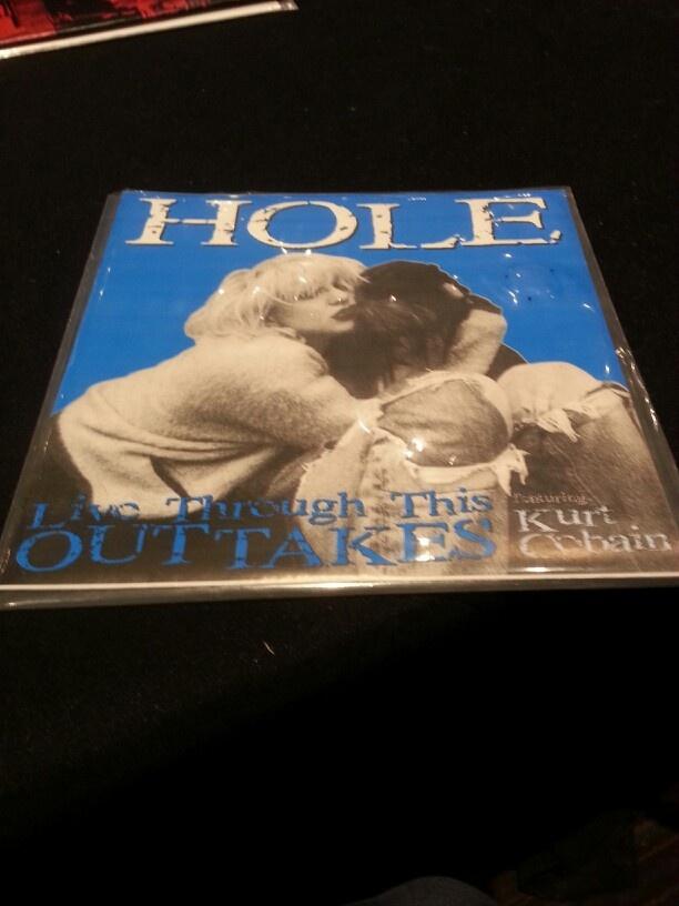 """VCU: Hole - Live through this 7"""" (w Kurt Cobain)"""