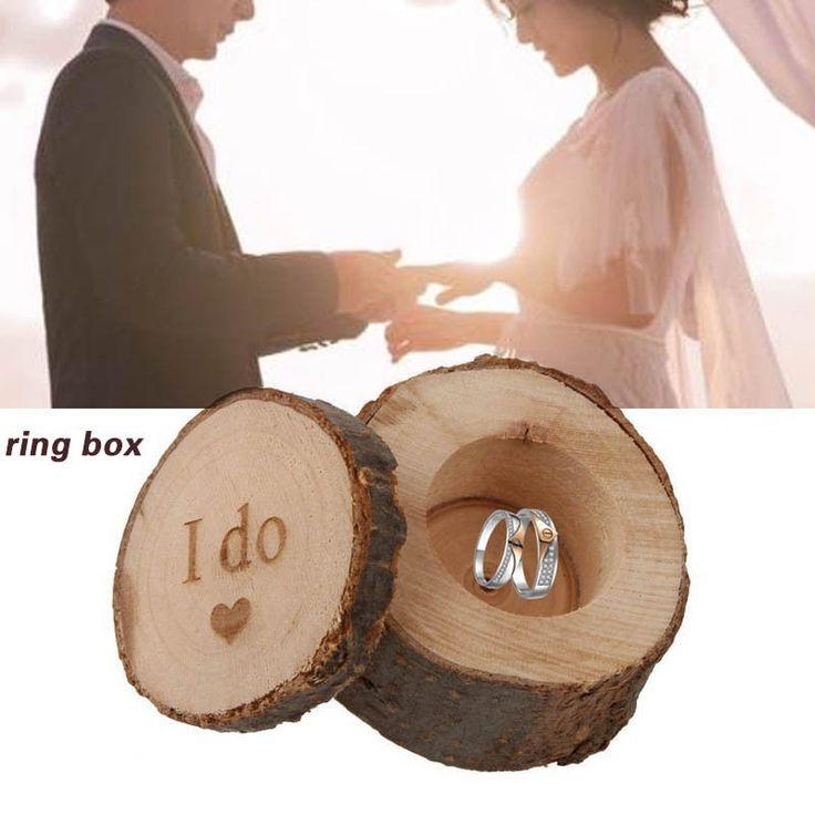 Ring Bearer Holder wood Box / Wedding Ring Holder Jewelry Storage Gifts #Unbranded #Basic