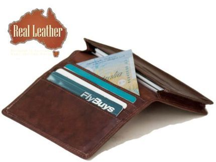 WALLET CARD CASE NATURAL LEATHER CAN HOLD MORE THAN 30 CARDS(613)
