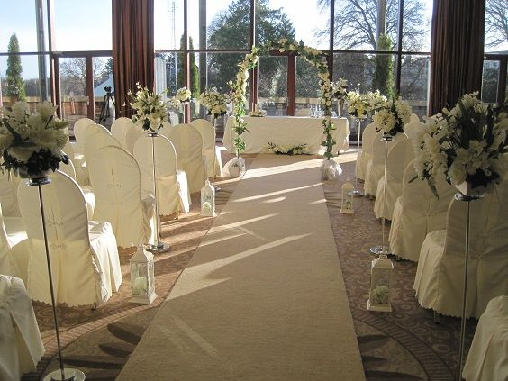 Trim Castle Hotel civil ceremony decorated by All About Weddings