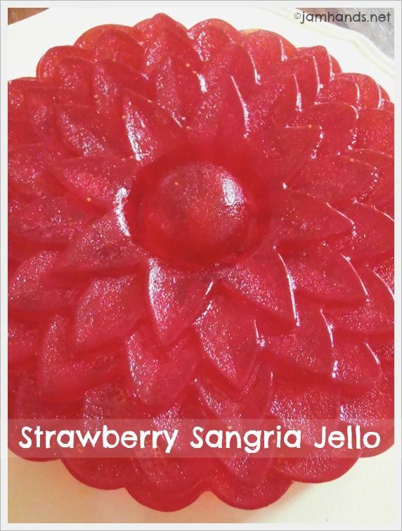 strawberry sangria jello jam hands strawberry sangria jello strawberry ...