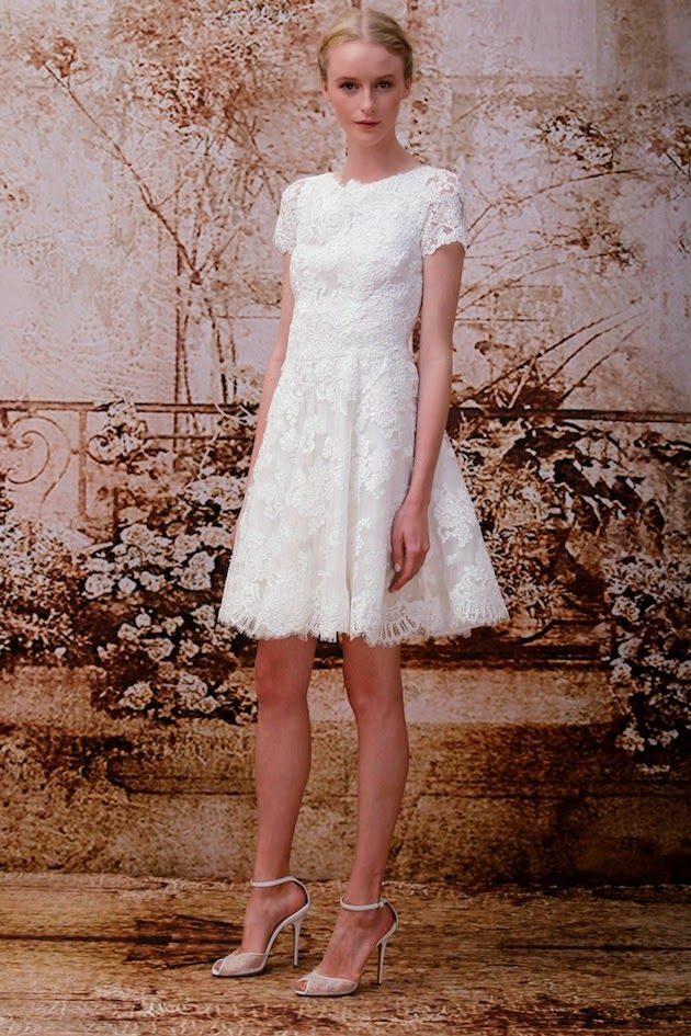 Vestido de noiva curto inverno