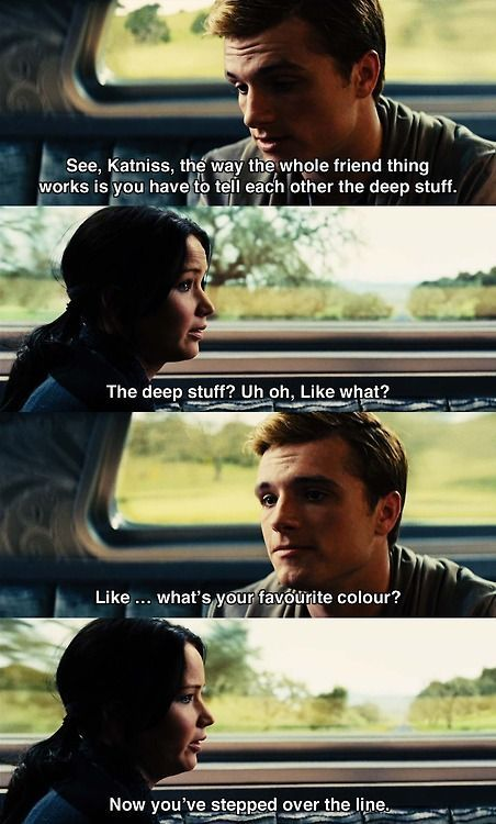 That was seriously my favorite line in the whole movie>> favorite scene in the series