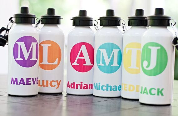 Personalized Aluminum Water Bottle for Kids, Monogram Sports Bottle, Water Bottle, Camp Water Bottle, Back to School, BPA Free on Etsy, $16.95