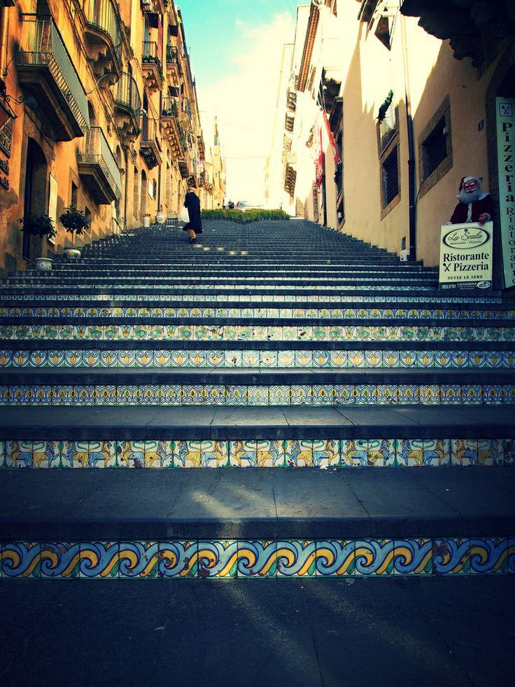 Stairs of Santa Maria del Monte in Caltagirone, Sicily