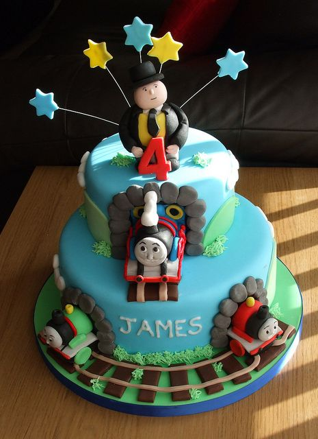 Thomas the Tank Engine cake by trulycrumbtious, via Flickr
