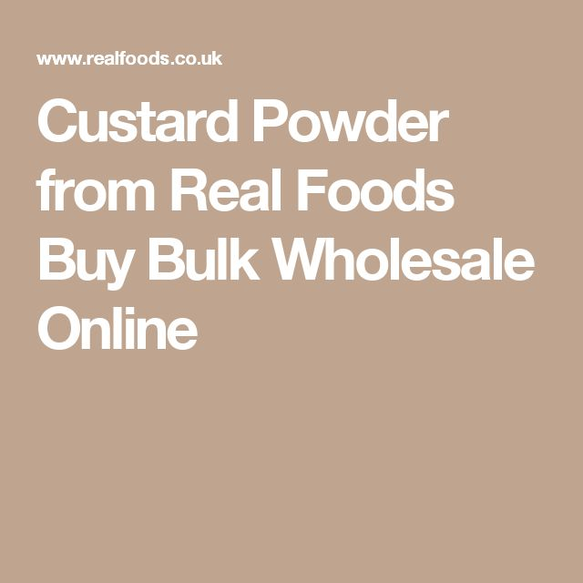 Custard Powder from Real Foods Buy Bulk Wholesale Online