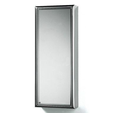 Spiegelschrank Edelstahl Türanschlag links | Badezimmerausstattung