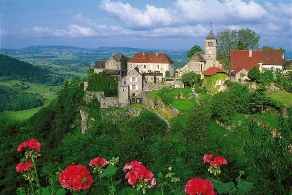 Château-Chalon, une commune française du département du Jura en région Bourgogne-Franche-Comté, France