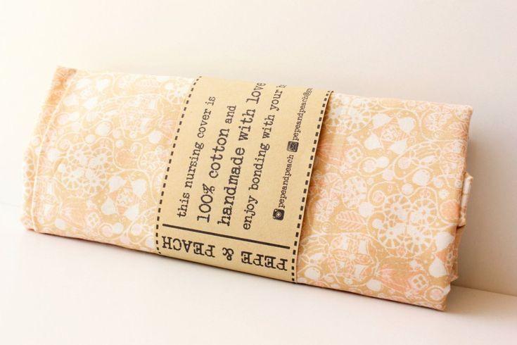 Baby gift, Baby shower gift, Nursing cover, Nursing scarf, Beautiful pattern, Beige