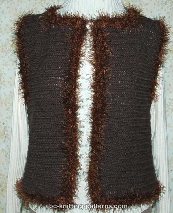 ABC Knitting Patterns - Fun Fur Crochet Vest