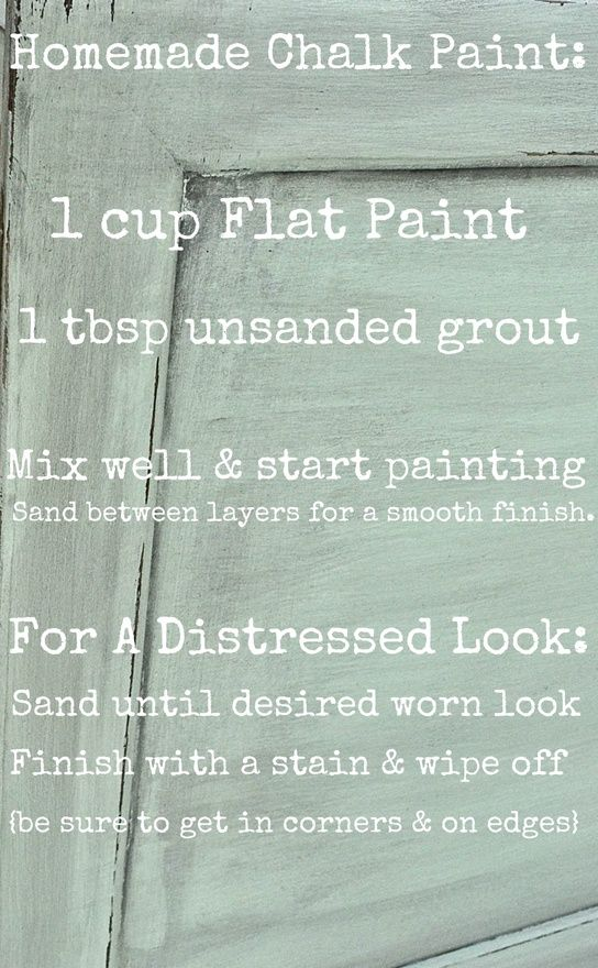 Used this for my sisters dresser and worked so well! Cant wait to try it out on ours!     Homemade Chalk paint instead of buy the expensive Anne Sloan brand