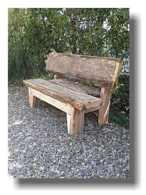 Banco dise ado con viejas maderas recicladas restauracion for Muebles con cosas recicladas