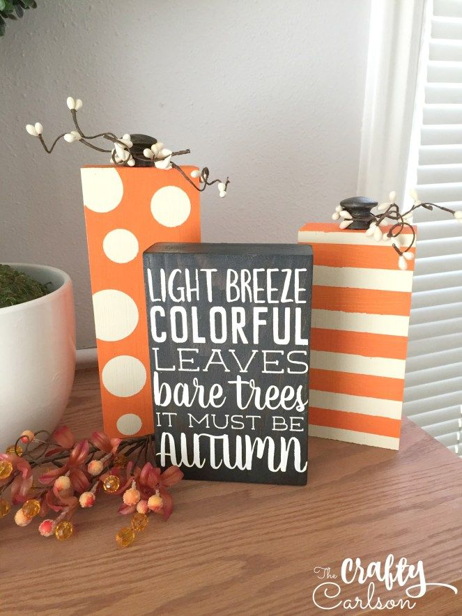 Fall Scrap Wood Pumpkins & Quote Block
