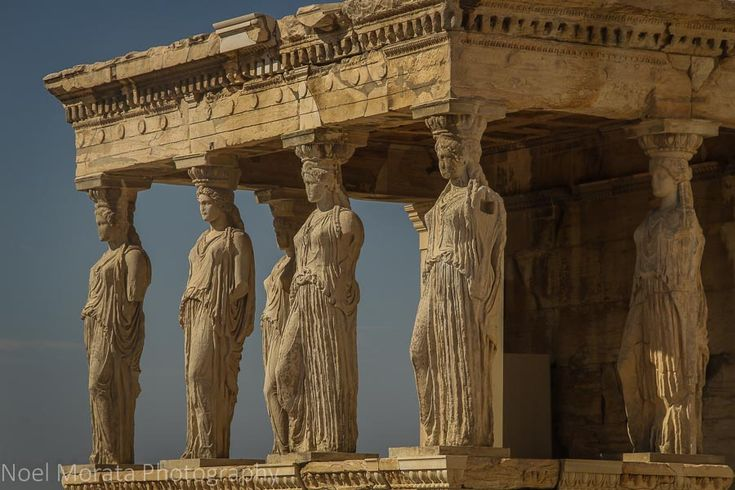 A first impression of Athens, Greece - The Erechteion with the graceful Caryatids at the Acropolis