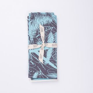 Set de repasadores Yavi, gris con palmeras celeste en internet