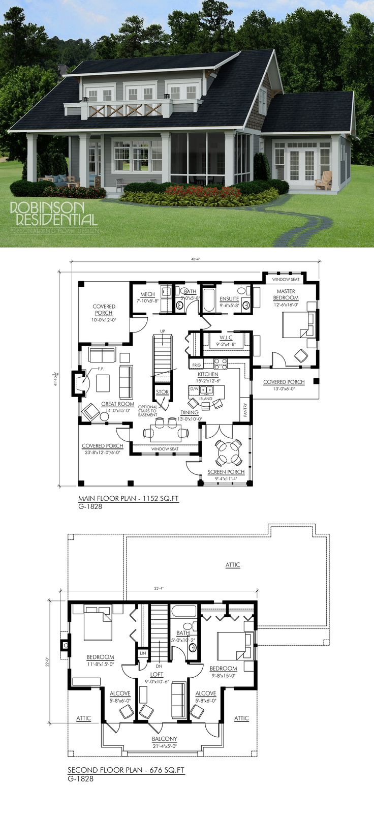 Craftsman G 1828 Craftsman Home Plans 51