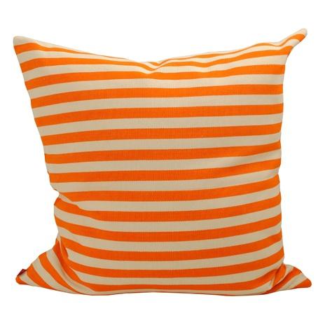 Donia kudde orange/natur, AfroArt.