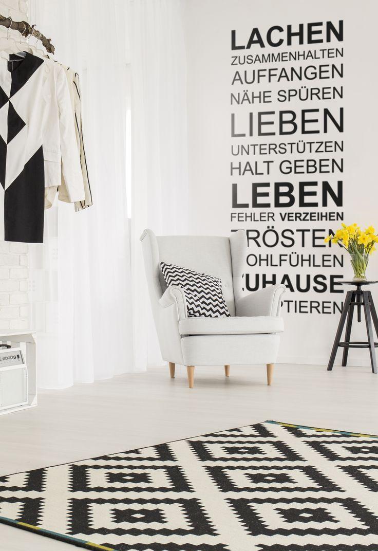 """Wandtattoo Spruch, Wandtatoos Sprüche und Zitate, Wandsticker Familie """"Lachen"""". Lassen Sie Ihre Wände sprechen! ♥♥♥"""