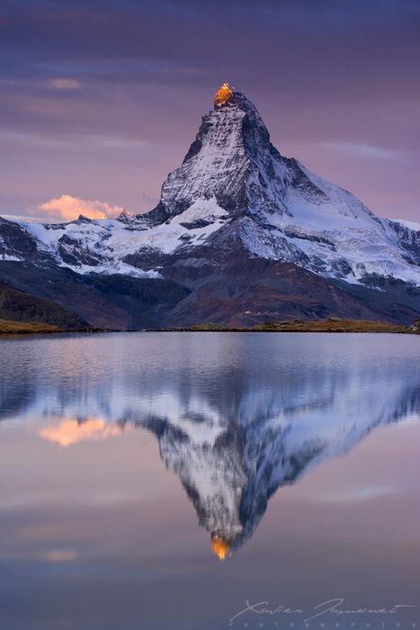 Monte Cervino Alpi -vista fronte Svizzero