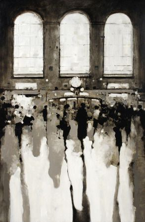 Geoffrey Johnson, Grand Central 10am, 2013, Oil on panel, 36 x 24 inches