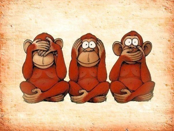 Resultado de imagen de los 3 monos