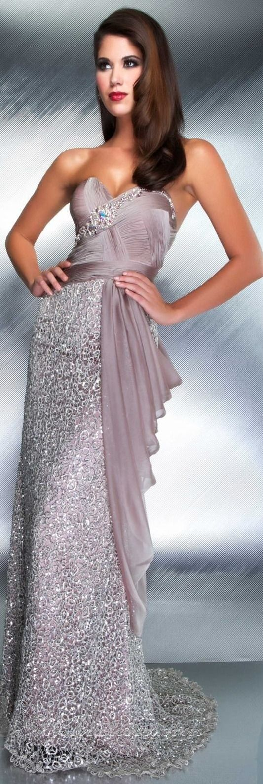 """queenbee1924: """" Mac Duggal couture (via ♥ lilac, lavender…lovely ♥) """""""