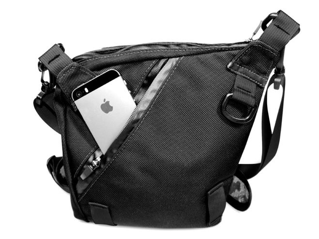 Bolstr Small Carry EDC Bag - Crossbody, Minimal and Perfectly Sized. Fits an iPad mini.