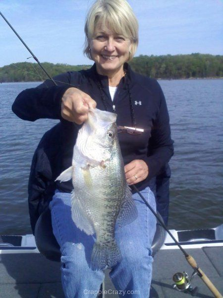 Mary kaye may caught this 16 5 white from ky lake april for Crappie fishing secrets