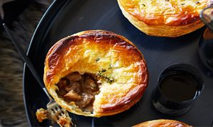 Stout and Green Peppercorn Pies