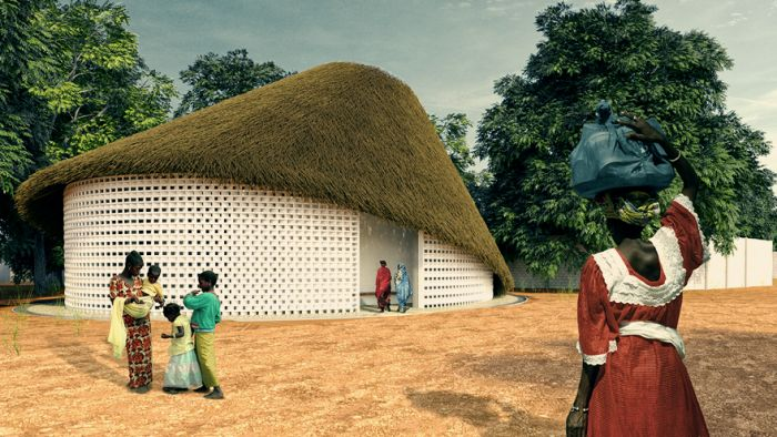 HUT is a multi-layered, elliptical structure that is meant to provide inhabitants of Tanaf Village a place of peace.