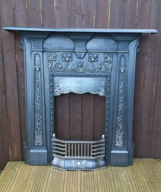 Corner Sofas Gumtree Liverpool: Art Nouveau Fireplace Cast Iron Arts And Craft Fire