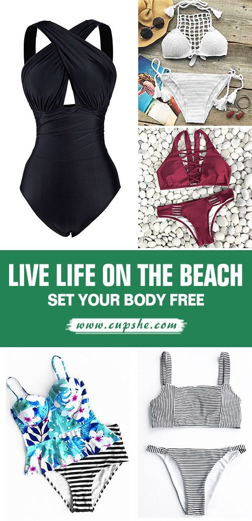 Live life on the beach~ Free Shipping & Easy Return + Refund! High quality & Better service! Get ready for hot bech party~ That's what you want. Give you charming look all the time at Cupshe.com
