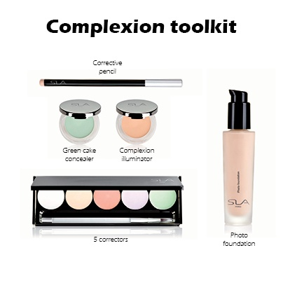 Complexion toolkit : correctors, concealers and foundation...