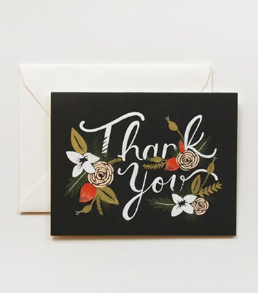 Breanne Thank You Card $4.00: Rifle Paper, Thank You Cards, Greeting Card, Rifle Paper Co, Anna Bond, Products, Stationery, Design, Breanne