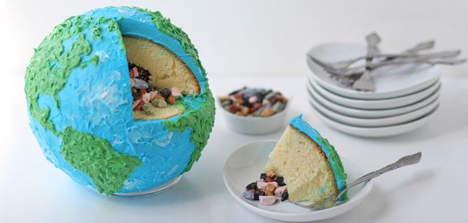 Earth Cake with Rock Candy Core - Amazing!!!!