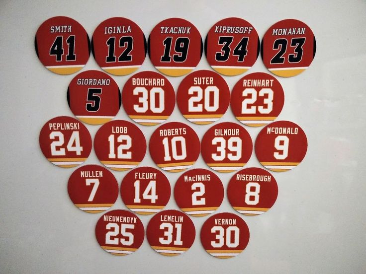 Calgary Flames Magnets Jersey design - Select a player - Calgary Flames Legends #CalgaryFlames
