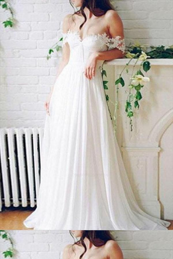 Wedding Dress Lace, Cute Wedding Dress, A-Line Wedding Dress, Long Wedding Dress, Cheap Wedding Dress #WeddingDressLace #CheapWeddingDress #CuteWeddingDress #ALineWeddingDress #LongWeddingDress Wedding Dresses 2018