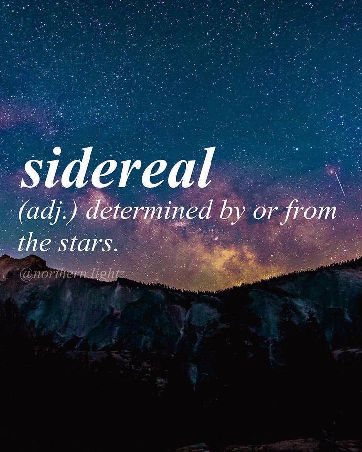 "Latin ""star-like"" //sahy-deer-ee-uh l// #astronomy"