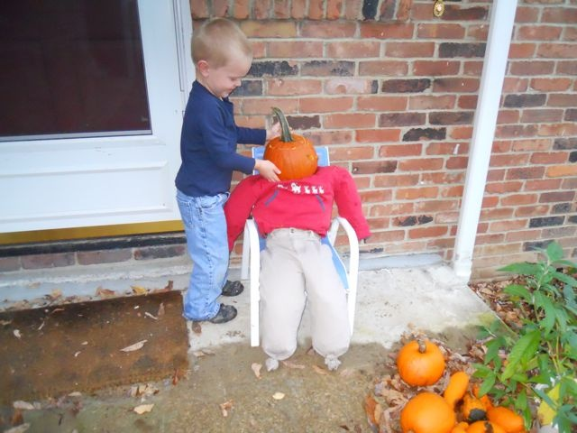 Happy Birthday Eric Rohmann - October 26  == Read PUMPKINHEAD and then make your own Otho!