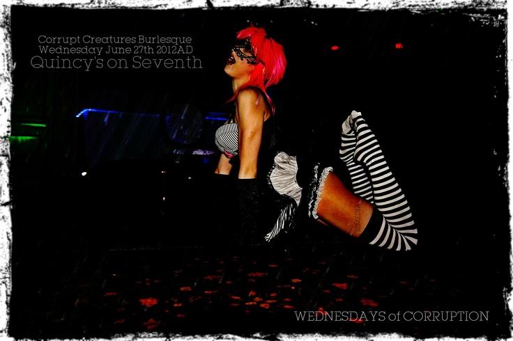 Shot for Corrupt Creatures Burlesque Promo