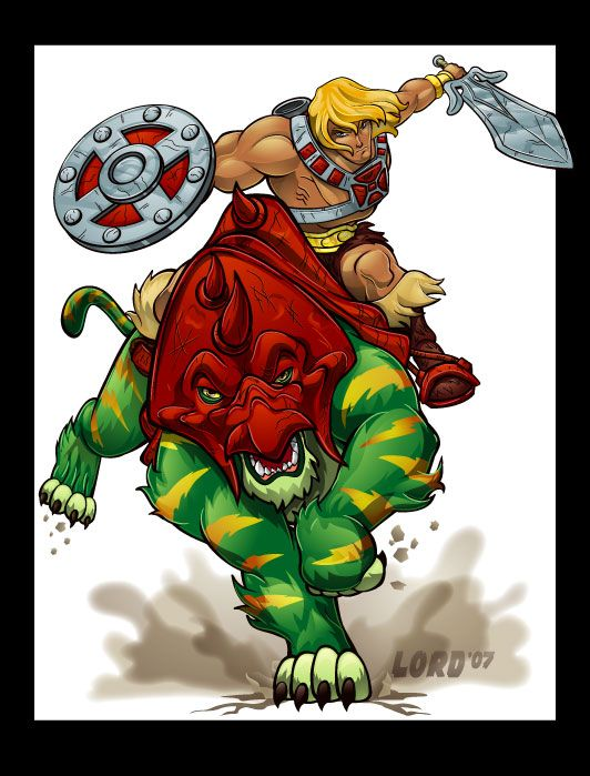 He-Man and Battlecat by lordmesa on DeviantArt