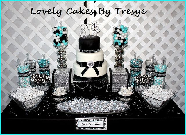 Diamond Candy Buffet Table Party Ideas Candy Buffet