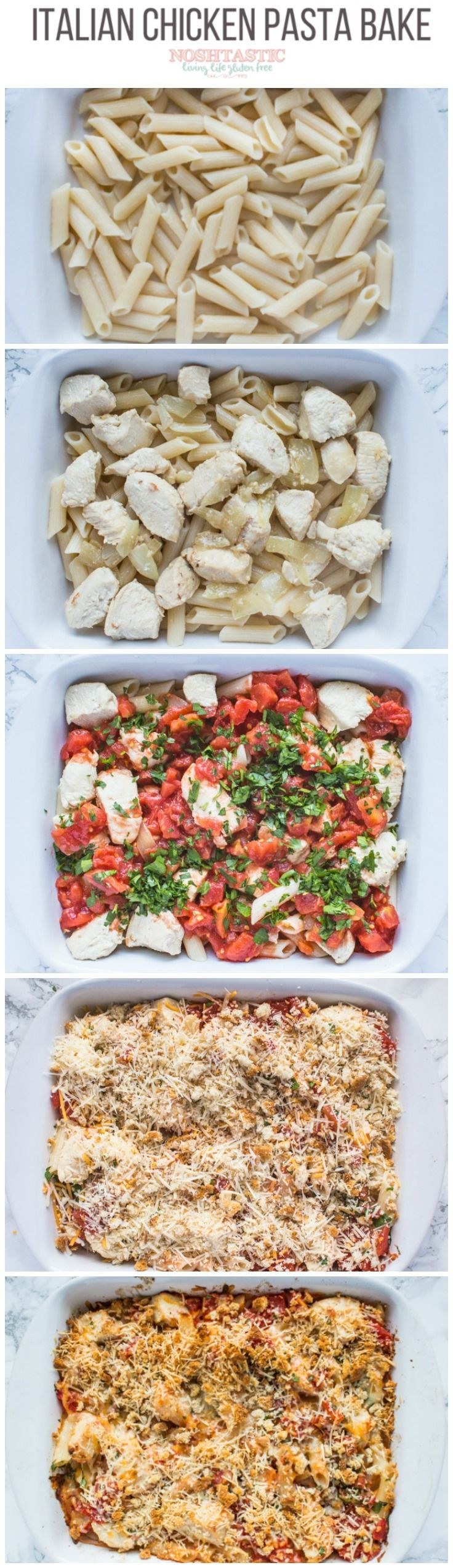 My family LOVED this Italian Chicken Pasta Bake, it's full of cheesy goodness and super easy to make! You can make gluten free and dairy free too
