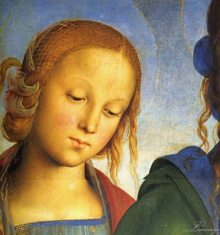 Madonna and Child with St. Catherine and St. Rosa - Pietro Perugino: