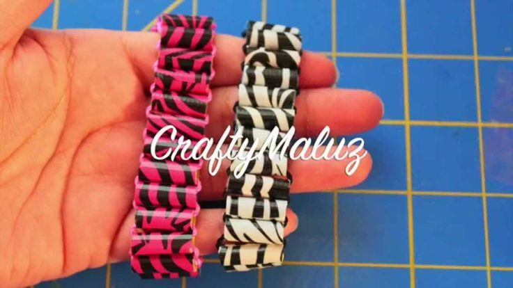 ♥ DIY: Pulsera Cebra de popotes y cinta adhesiva- Pulsera de Moda