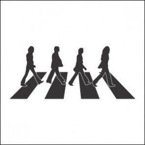Adesivo de Parede Musical Beatles Abbey Road